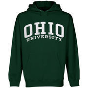 Mens Ohio Bobcats Green Bold Arch Hoodie
