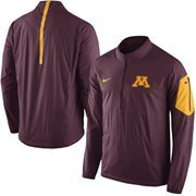 Men's Nike Maroon Minnesota Golden Gophers 2015 Football Coaches Sideline Half-Zip Wind Jacket