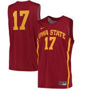Men's Nike #17 Cardinal Iowa State Cyclones Replica Jersey