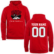 Men's Red UNLV Rebels Personalized Football Logo Pullover Hoodie