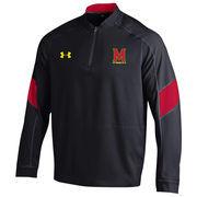 Men's Under Armour Black Maryland Terrapins Mastermind Cage Long Sleeve Performance Jacket