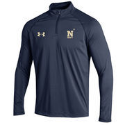 Men's Under Armour Navy Navy Midshipmen 2016 Sideline Stripe Knit 1/4 Zip Performance Jacket