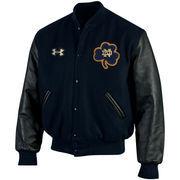 Men's Under Armour Navy Notre Dame Fighting Irish Iconic Varsity Jacket
