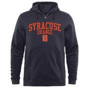 Men's Navy Syracuse Orange Arched School Name & Mascot Full-Zip Hoodie