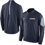 Men's Nike Navy UConn Huskies 2015 Football Coaches Sideline Half-Zip Wind Jacket