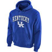 Men's New Agenda Royal Kentucky Wildcats Midsize Arch Over Logo Hoodie