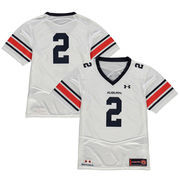 Youth Under Armour #2 White Auburn Tigers Replica Football Jersey