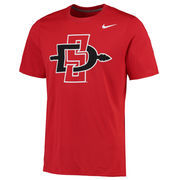 Men's Nike Red San Diego State Aztecs Legend Logo Sideline Performance T-Shirt