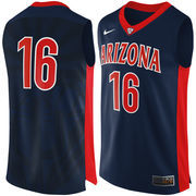 Men's Nike #16 Navy Arizona Wildcats Authentic Basketball Performance Jersey