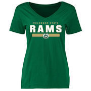 Women's Green Colorado State Rams Team Strong Slim Fit T-Shirt