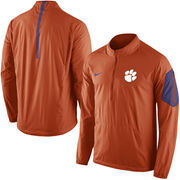 Men's Nike Orange Clemson Tigers 2015 Football Coaches Sideline Half-Zip Wind Jacket