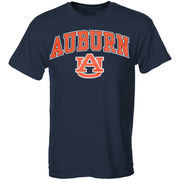 Men's New Agenda Navy Auburn Tigers Arch Over Logo T-Shirt