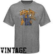 Kentucky Wildcats Distressed Big Logo Ring Spun T-Shirt - Gray