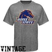 Boise State Broncos Distressed Big Logo Ring Spun T-Shirt - Gray