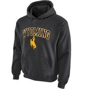 Wyoming Cowboys Midsize Arch Pullover Hoodie - Dark Gray