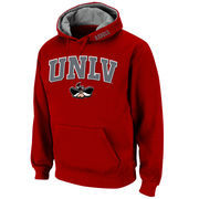 Men's Stadium Athletic Red UNLV Rebels Arch & Logo Pullover Hoodie