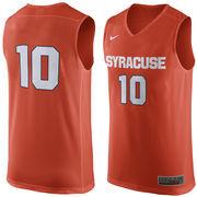 Men's Nike #10 Orange Syracuse Orange Replica Jersey