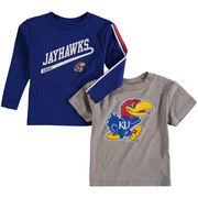 Toddler Gray/Royal Kansas Jayhawks Squad T-Shirt Combo Pack