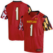 Youth Under Armour Red Maryland Terrapins Replica Football Jersey