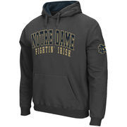 Men's Stadium Athletic Charcoal Notre Dame Fighting Irish Double Arches Pullover Hoodie