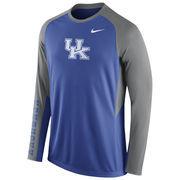Nike Royal Kentucky Wildcats 2015-2016 Elite Basketball Pre-Game Shootaround Long Sleeve Dri-FIT Top