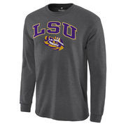 Men's Charcoal LSU Tigers Campus Long Sleeve T-Shirt