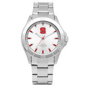 Men's Jack Mason Brand NC State Wolfpack Silver Sport Watch