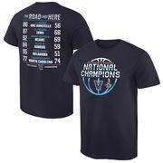 Men's Navy Villanova Wildcats 2016 NCAA Men's Basketball National Champions Schedule T-Shirt