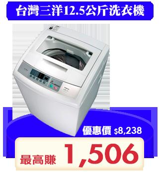 [館長推薦] SANLUX台灣三洋 12.5公斤 定頻直立式 媽媽樂洗衣機 ASW-125MTB