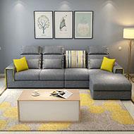 康緹L型獨立筒布沙發