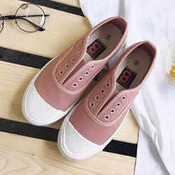 韓版百搭帆布鞋