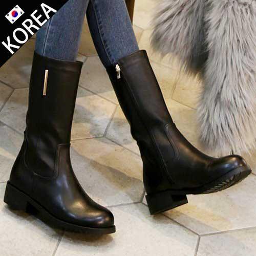 正韓氣質時尚中筒靴