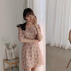 小清新甜美碎花洋裝