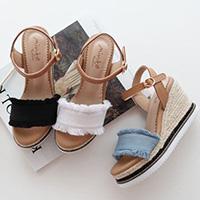 正韓希臘渡假風楔形鞋