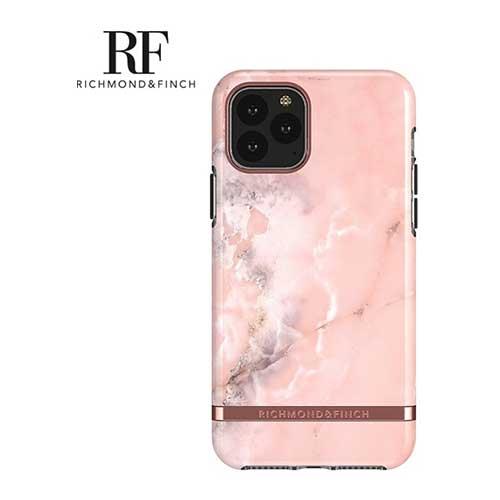 RF瑞典手機殼大理石紋玫瑰金線框 - 玫瑰粉 iPhone 11 Pro Max 6.