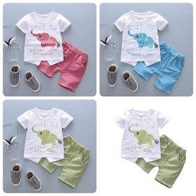 嬰兒短袖套裝 短袖上衣+短褲