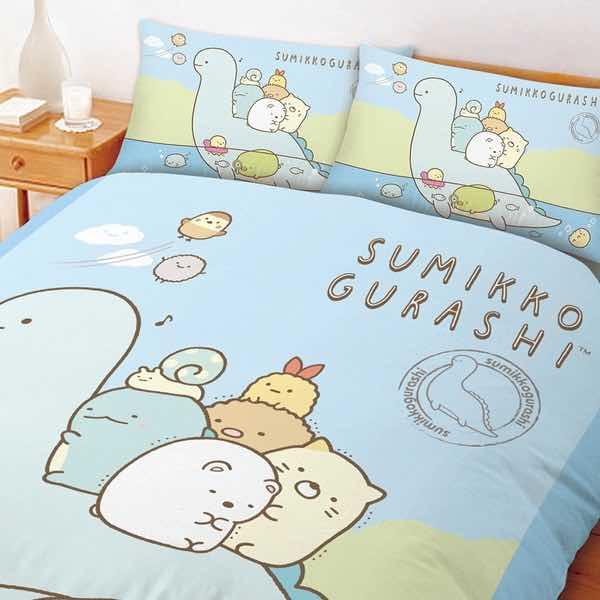 角落小夥伴 恐龍世紀單人床包含枕套