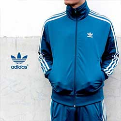 Adidas 湖水綠三葉草外套