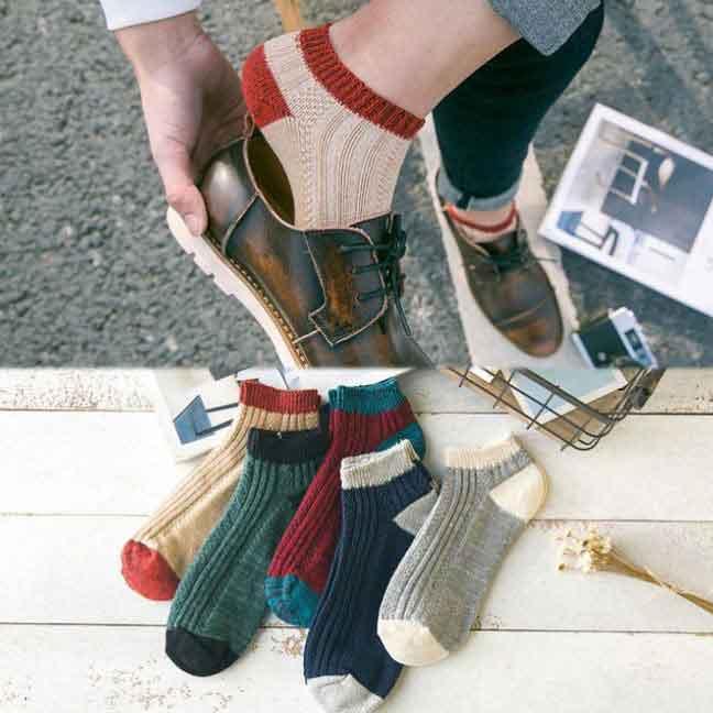 森林系休閒襪