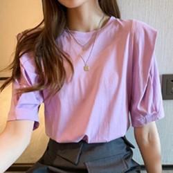 韓系中大碼素面T恤上衣