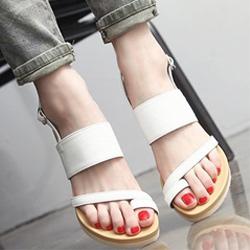 超襯腳型人字氣墊防滑涼鞋