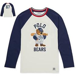 POLO熊印花長袖T恤