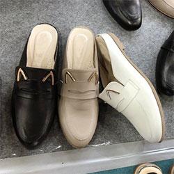 可愛貓耳朵鞋面穆勒鞋