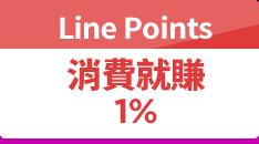 消費賺Line Points 1 %