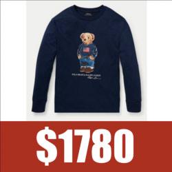 Ralph Lauren POLO限量熊印花長袖T恤