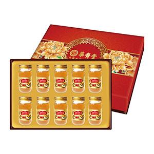 華齊堂 蜂王乳金絲燕窩晶露禮盒 2盒組