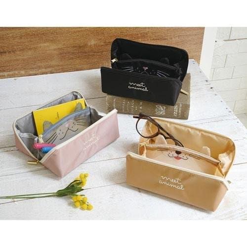 日本pacapo動物 貓咪 柴犬 化妝包 收納包