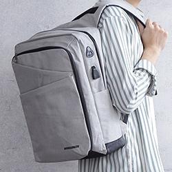 防水雙層充電多功能後背包