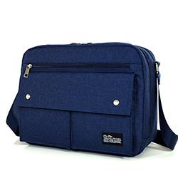 簡約大款A4雙層側背包