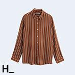 簡約直條紋設計薄襯衫